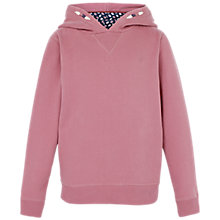 Buy Fat Face Children's Popover Hoodie, Rose Online at johnlewis.com