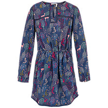 Buy Fat Face Girls' Woodland Print Dress, Navy Online at johnlewis.com