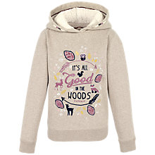 Buy Fat Face Children's Popover Marl Hoodie, Oatmeal Online at johnlewis.com
