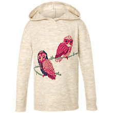 Buy Fat Face Children's Owl Hoodie, Cream Online at johnlewis.com