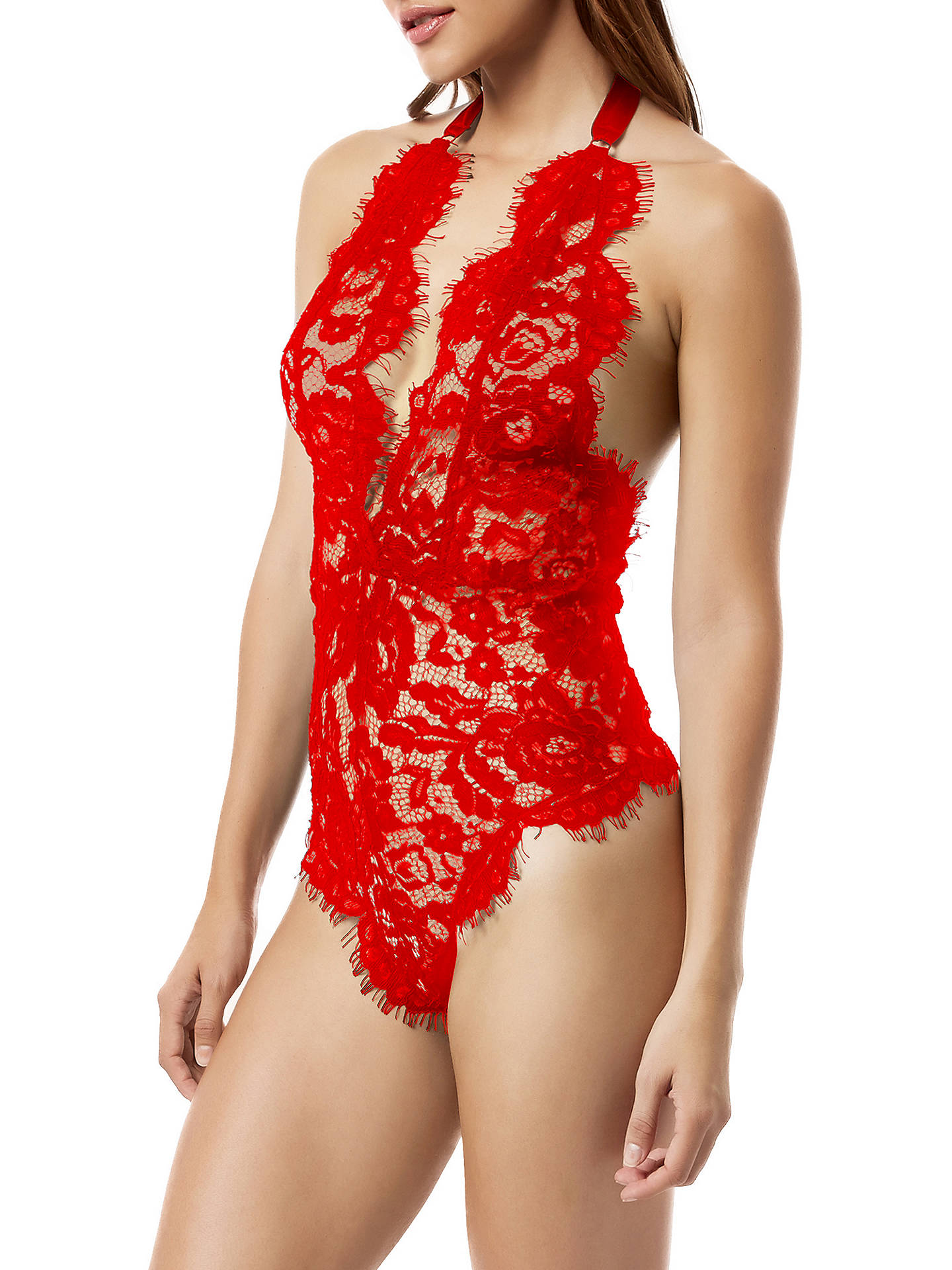 BuyBluebella Natalia Lace Body, Red, 8 Online at johnlewis.com