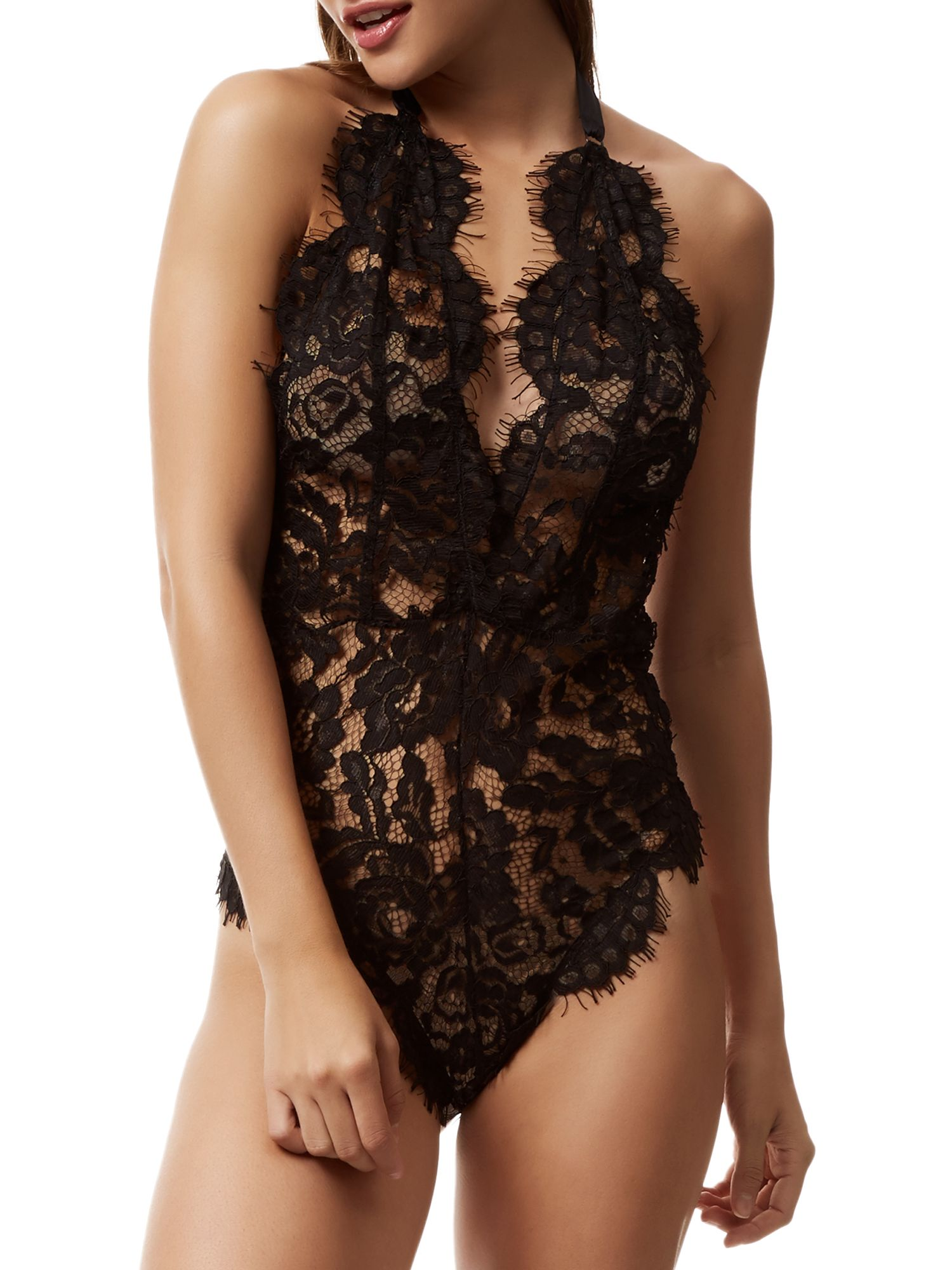 BlueBella Bluebella Natalia Lace Body, Black
