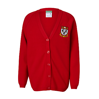 Nottingham High School Unisex Cardigan, Red