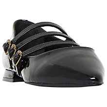 Buy Dune Black Goldesmith Triple Strap Court Shoes Online at johnlewis.com