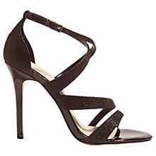 Buy Karen Millen Glitter Stiletto Heeled Sandals Online at johnlewis.com
