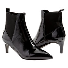 Buy Jigsaw Olsen Kitten Heeled Ankle Boots, Black Online at johnlewis.com