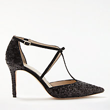 Buy Boden Jennifer Sequinned T-Bar Court Shoes Online at johnlewis.com