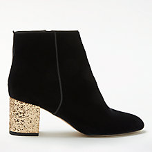 Buy Boden Lana Block Heeled Ankle Boots, Black Online at johnlewis.com