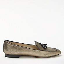 Buy Boden Ines Tassel Loafers, Gold Online at johnlewis.com