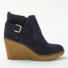 Buy Boden Shearling Wedge Heeled Ankle Boots Online at johnlewis.com