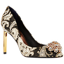 Buy Ted Baker Peetch Ornate Paisley Court Shoes, Multi Online at johnlewis.com