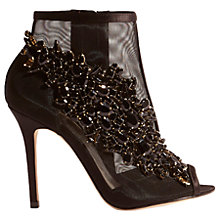Buy Karen Millen Jewel Sheer Shoe Boots, Black Online at johnlewis.com
