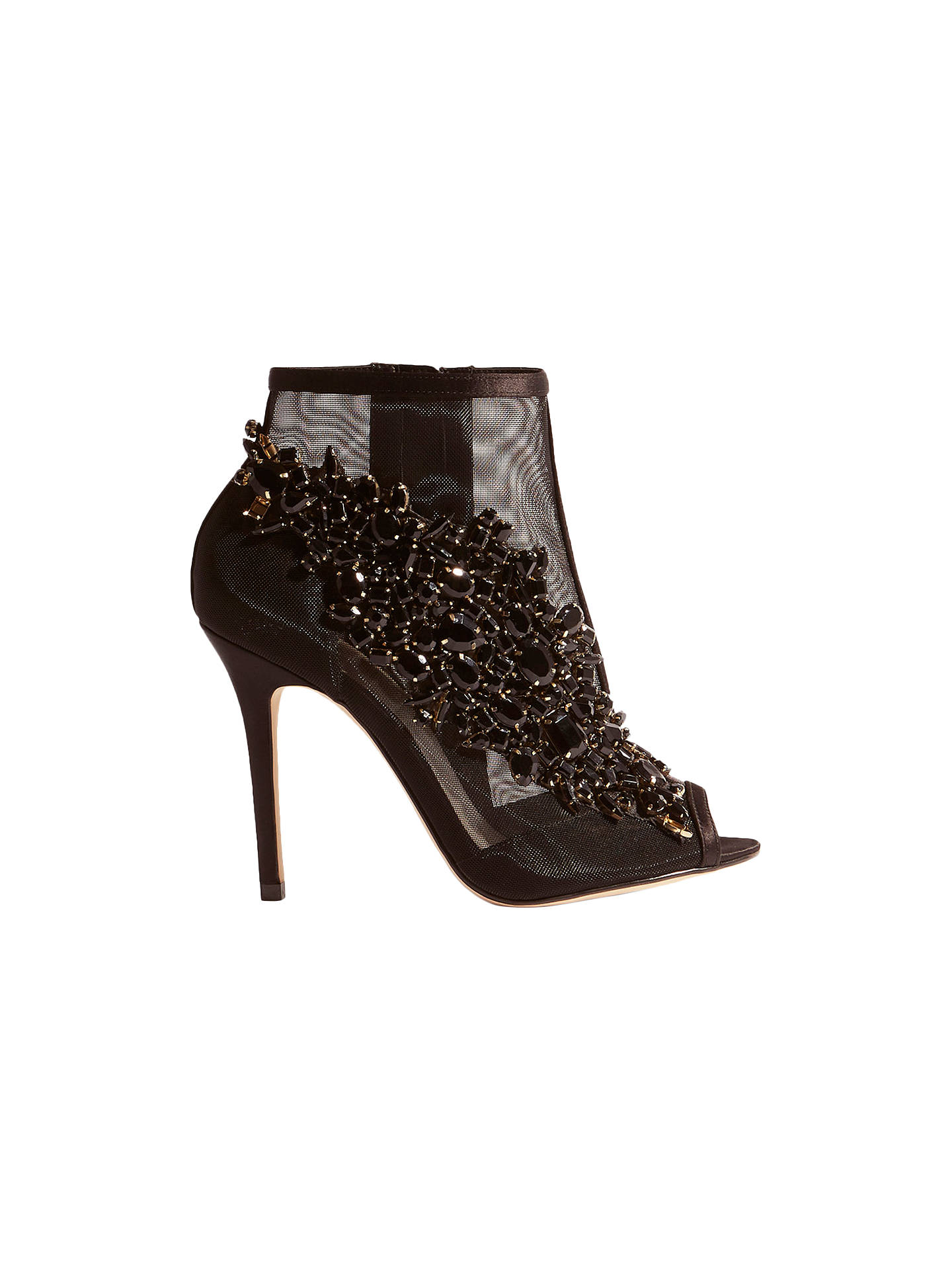 BuyKaren Millen Jewel Sheer Shoe Boots, Black, 3 Online at johnlewis.com