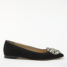Buy Boden Rosalie Jewelled Pumps, Black Online at johnlewis.com