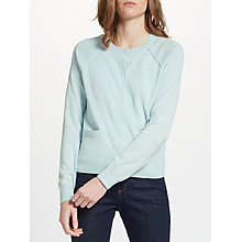 Buy Collection WEEKEND by John Lewis Cotton Cardigan, Pale Blue Online at johnlewis.com