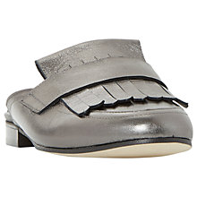 Buy Dune Black Guye Fringed Backless Loafers Online at johnlewis.com