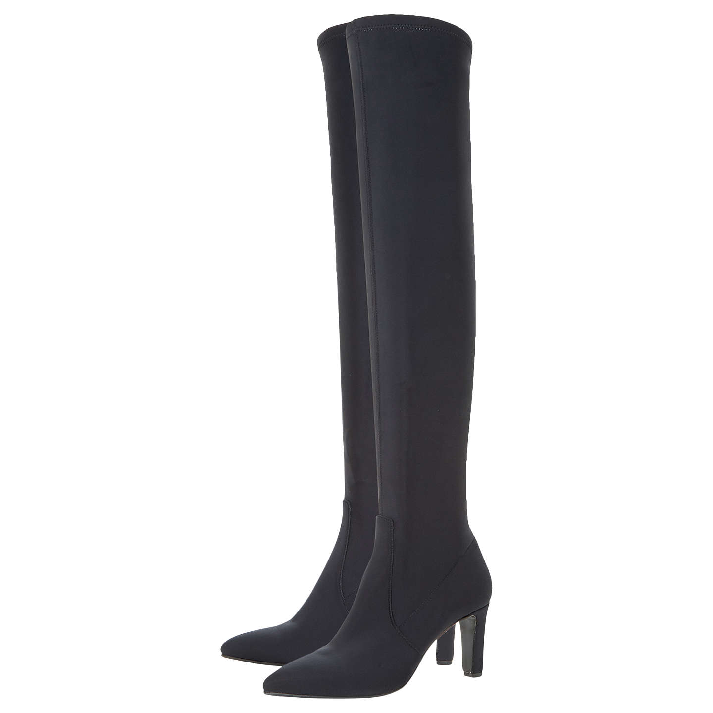 BuyDune Black Stanford Over The Knee Boots, Black, 3 Online at johnlewis.com