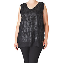 Buy AIDA Faux Suede Blouse, Black Online at johnlewis.com