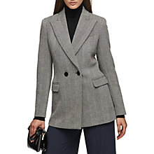 Buy Reiss Double Breasted Oakley Jacket, Black Online at johnlewis.com