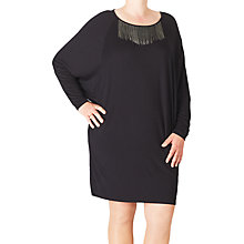 Buy ADIA Long Sleeve Tunic Dress, Black Online at johnlewis.com