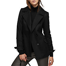 Buy Reiss Short Belted Trench Coat, Black Online at johnlewis.com