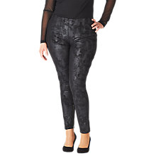 Buy ADIA Faux Suede Trousers, Black Online at johnlewis.com