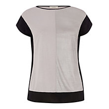 Buy Oasis Colourblock Liquid Top, Multi/Silver Online at johnlewis.com