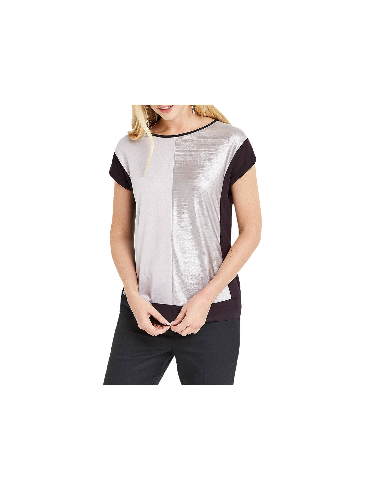 BuyOasis Colourblock Liquid Top, Multi/Silver, XS Online at johnlewis.com