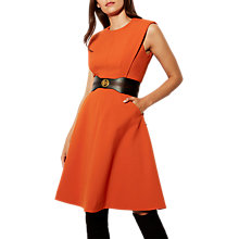 Buy Karen Millen Panelled A-Line Dress, Orange Online at johnlewis.com