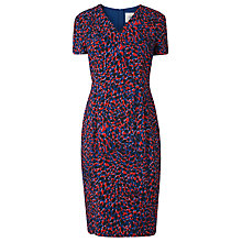 Buy L.K.Bennett Dr Bertie Leopard Print V Neck Shift Dress, Red/Navy Online at johnlewis.com