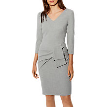 Buy Karen Millen Folded Pencil Dress, Grey Online at johnlewis.com