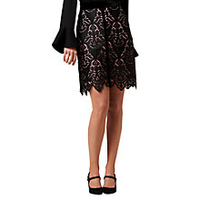 Buy L.K. Bennett Elouise Lace Skirt, Black/Chalkrose Online at johnlewis.com