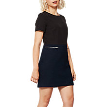 Buy Mint Velvet Short Sleeve Crepe Dress, Black Online at johnlewis.com