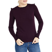 Buy Oasis Frill Shoulder and Cuff Knitted Top Online at johnlewis.com