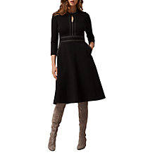 Buy L.K. Bennett Cinta Stitch Detail Dress, Black Online at johnlewis.com