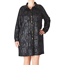 Buy ADIA Faux Suede Shirt Dress, Black Online at johnlewis.com