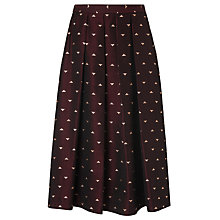Buy L.K. Bennett Grace Jacquard Skirt, Ruby Online at johnlewis.com