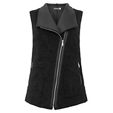 Buy Mint Velvet Reversible Gilet, Black Online at johnlewis.com