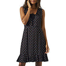 Buy Jigsaw Nordic Crest Ruffle Dress, Black/Multi Online at johnlewis.com