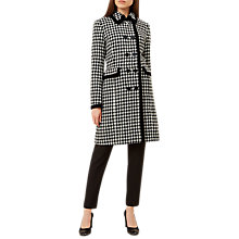 Buy Hobbs Sara Houndstooth Double Breasted Tailored Coat, Black/Ivory Online at johnlewis.com