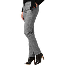 Buy L.K.Bennett Medine Wool Mix Trousers, Black/White Online at johnlewis.com