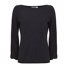 Buy Mint Velvet Metallic Jumper, Dark Blue Online at johnlewis.com