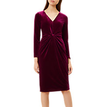 Buy Hobbs Emilia Dress, Burgundy Online at johnlewis.com