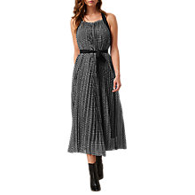 Buy L.K. Bennett Dori Pleated Dress, Black/White Online at johnlewis.com