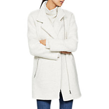 Buy Mint Velvet Asymmetric Zip Detail Coat, Cream Online at johnlewis.com