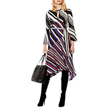 Buy Karen Millen Striped Midi Dress, Multicolour Online at johnlewis.com