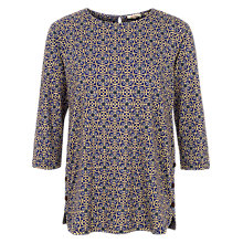 Buy Fat Face Retro Tile Tulip Top, Indigo Online at johnlewis.com