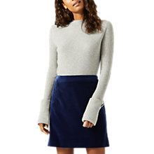 Buy Jigsaw Brushed Velvet Straight Skirt, Blue Ocean Online at johnlewis.com