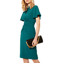 Buy Karen Millen Ruched Pencil Dress, Teal Online at johnlewis.com