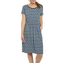 Buy Fat Face Corinne Jacquard Floral Dress, Indigo Online at johnlewis.com